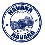 Havana stamp — Stock Vector