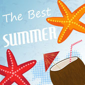 Vintage summer poster — Stock Vector