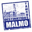 Malmo stamp — Stock Vector