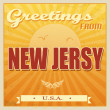 Vintage New Jersy, USA poster — Stock Vector #29094717