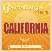 Vintage california, cartel de estados unidos — Vector de stock