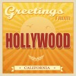 Stock Vector: Vintage Hollywood, Californiposter