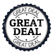 Great deal stamp — Stock Vector