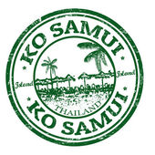 Ko Samui stamp — Vecteur