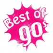 Best of 90's stamp — Vector de stock