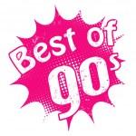Best of 90's stamp — Stok Vektör