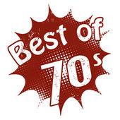 Best of 70's stamp — Stock Vector