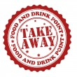 Take away stamp — Image vectorielle