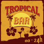Tropical bar poster — Stock Vector