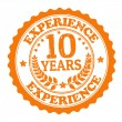 10 Years Experience stamp — Vector de stock #29495713