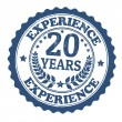 20 Years Experience stamp — Stock Vector