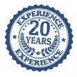 Stock Vector: 20 Years Experience stamp