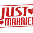 Just married stamp — Vettoriale Stock #29498407