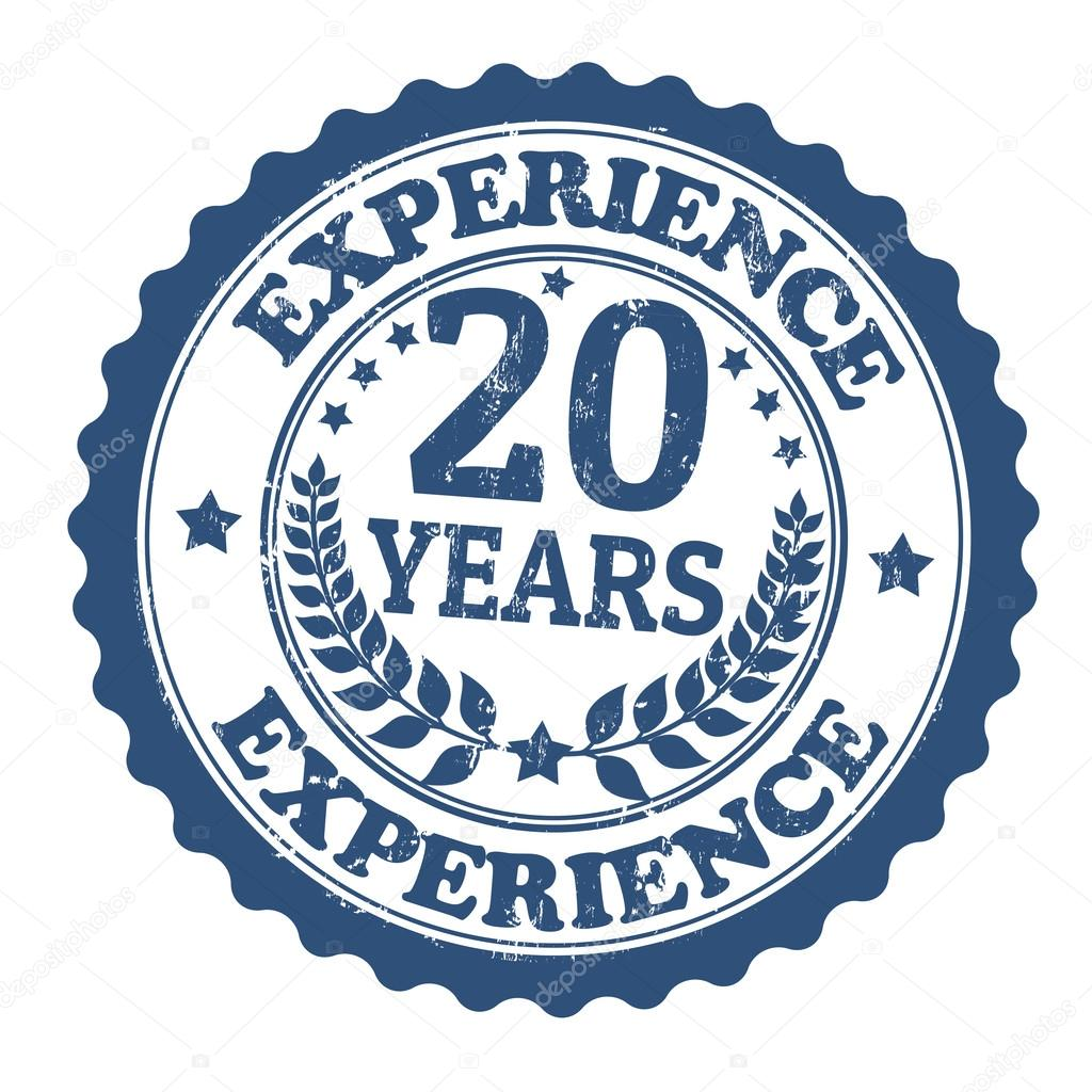20 years experience stamp stock vector 29495721 for 20 images