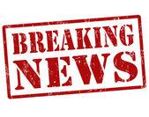 Breaking news stamp — Stock Vector
