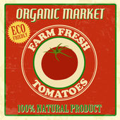 Farm fresh tomatoes poster — Stock Vector