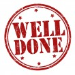 Well done stamp — Stock Vector