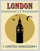 Big ben tower from London poster — Stock vektor