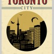 Toronto buildings from Canada poster — Stock Vector