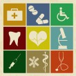Set of vintage medical icons — Stock Vector