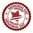 Memorial day stamp — Stock Vector #29934199