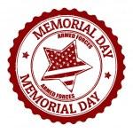 Memorial day stamp — Stock Vector