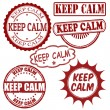Keep calm stamps set — Stock Vector