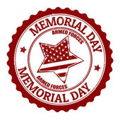 Memorial day stamp — Stock Vector