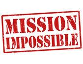 Missie onmogelijk stempel — Stockvector