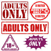 Adults only stamps — Stock Vector