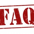 FAQ (Frequently Asked Questions) stamp — Vektorgrafik