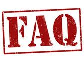 марка faq (часто задаваемые вопросы — Cтоковый вектор
