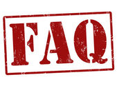 FAQ (Frequently Asked Questions) stamp — Vettoriale Stock