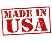 Made in usa-briefmarke — Stockvektor