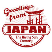Greetings from Japan stamp — Stock Vector