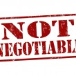 Not negotiable stamp — Stock Vector