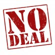 Stock Vector: No deal stamp