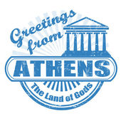Greetings from Athens stamp — Stock Vector