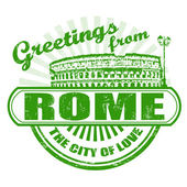 Greetings from Rome stamp — Stock Vector