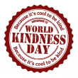 Vector de stock : World kindness day stamp