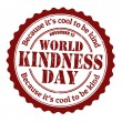 World kindness day stamp — Stok Vektör