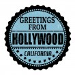 Stock Vector: Greetings from Hollywood stamp