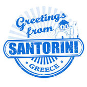 Greetings from Santorini stamp — Stock Vector