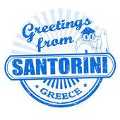Greetings from Santorini stamp — Stock Vector