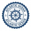 Atlantic Ocean stamp — Stockvectorbeeld