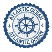 Atlantic Ocean stamp — 图库矢量图片