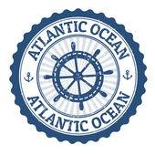 Atlantic Ocean stamp — Stock Vector