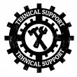Technical support stamp — Stock Vector