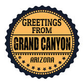 Greetings from Grand Canyon stamp — Stock Vector
