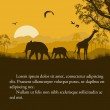 Wild african animals silhouettes poster — Stock Vector